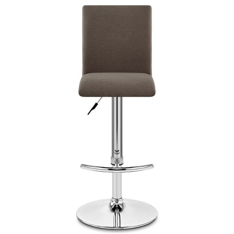 Deluxe High Back Stool Brown Fabric