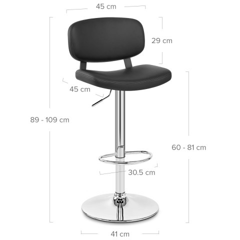 Edge Bar Stool Black