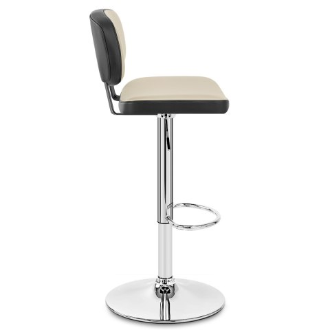 Edge Bar Stool Black & Cream