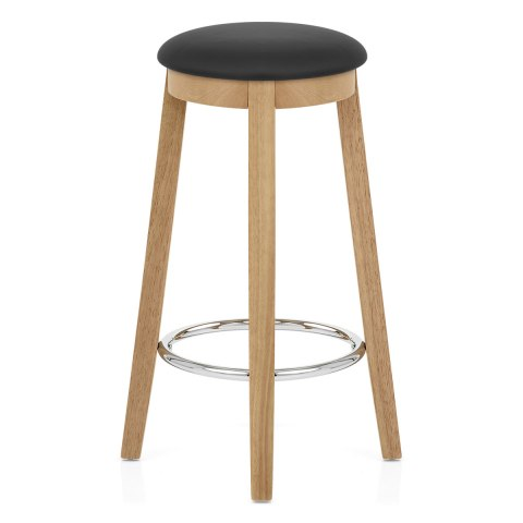 ikon kitchen stool oak black atlantic shopping. Black Bedroom Furniture Sets. Home Design Ideas