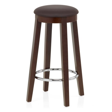 Ikon Kitchen Stool Walnut & Brown