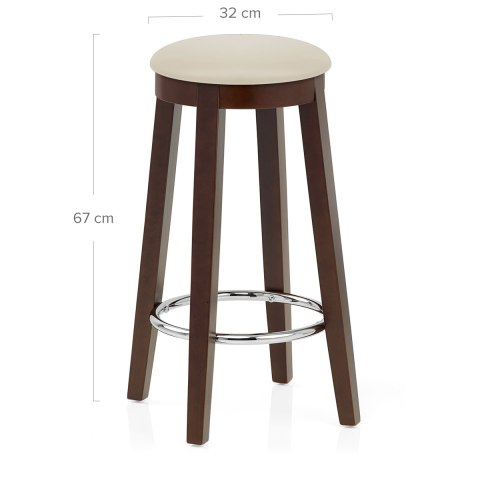 Ikon Kitchen Stool Walnut & Cream