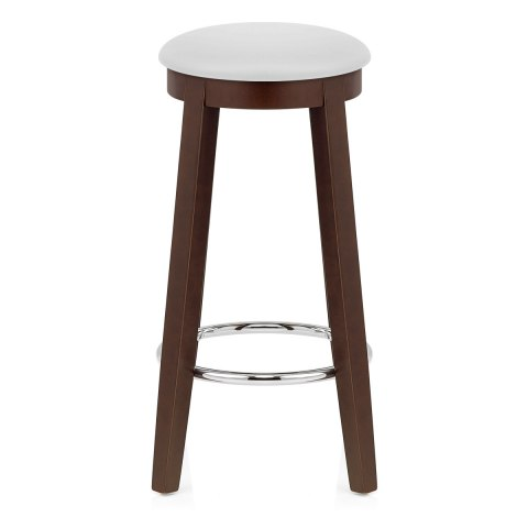 white bar stools ikon kitchen stool walnut amp white atlantic shopping 29648