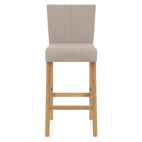 Cornell Oak Bar Stool Tweed Fabric Atlantic Shopping