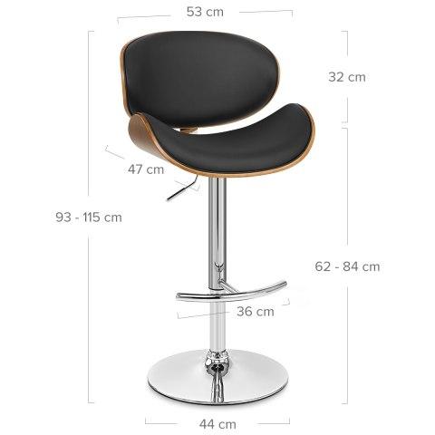 Fabulous Theo Walnut Bar Stool Black Short Links Chair Design For Home Short Linksinfo