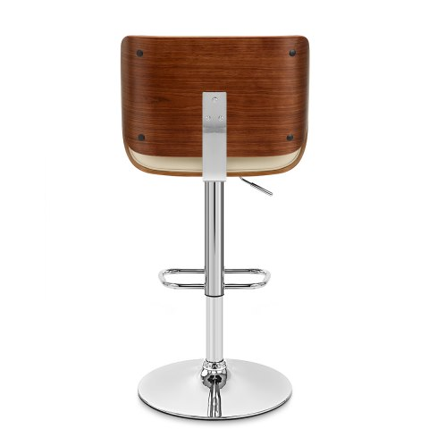 Aldo Walnut Bar Stool Cream Leather