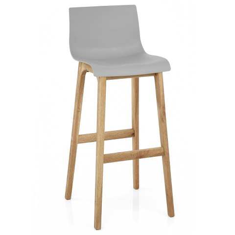 Drift Oak & Light Grey Bar Stool