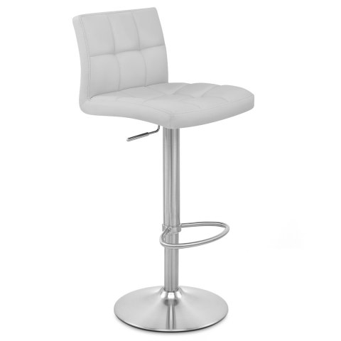 Starz Brushed Steel Stool Grey
