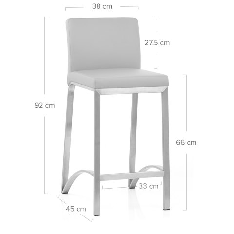 Leah Brushed Stool Grey
