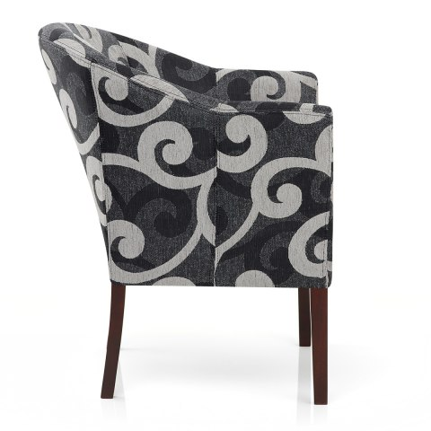 Monte Walnut Chair Swirl Design