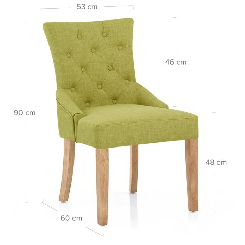 Verdi Chair Oak & Green