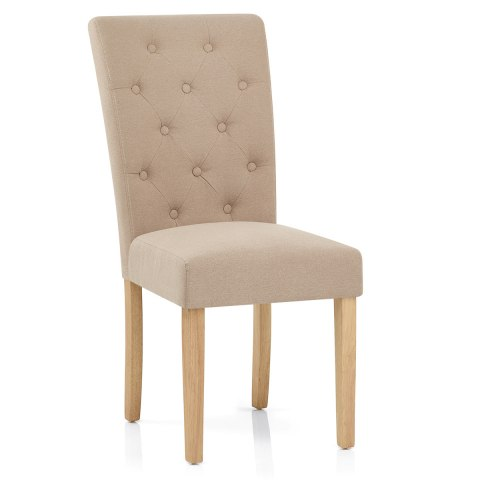 Vigo chair oak beige atlantic shopping - Chaise tissu beige ...