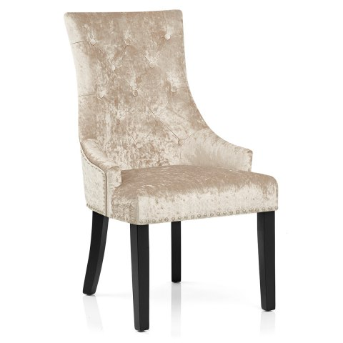 Ascot Dining Chair Beige Velvet