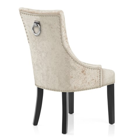 Ascot Dining Chair Beige Velvet Atlantic Shopping