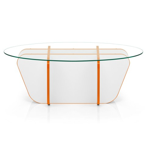 XO Coffee Table Orange & White