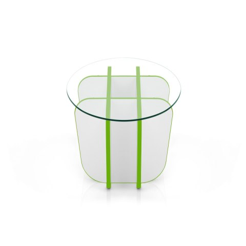 XO Coffee Table Green & White