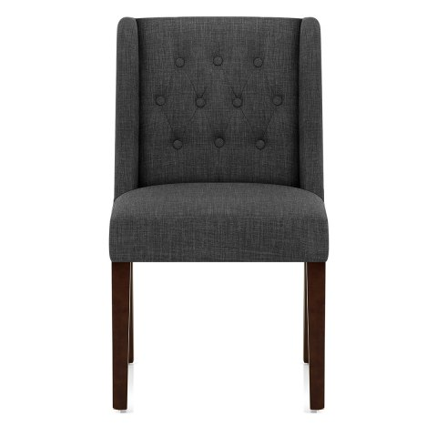 Chatsworth Walnut Dining Chair Charcoal Atlantic Shopping