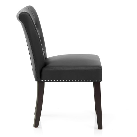 Buckingham Dining Chair Black Leather