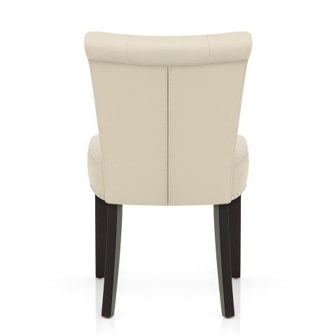 Buckingham dining chair cream leather atlantic shopping for Chaise cuir et bois