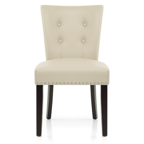 Charmant Buckingham Dining Chair Cream Leather ...