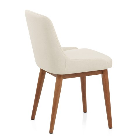 Jersey Dining Chair Walnut & Cream