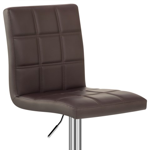 Criss Cross Bar Stool Brown
