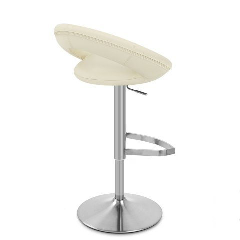 Brushed Crescent Stool Cream