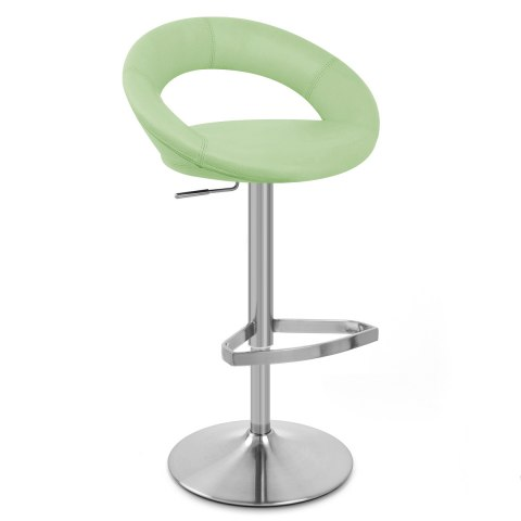 Brushed Crescent Stool Green