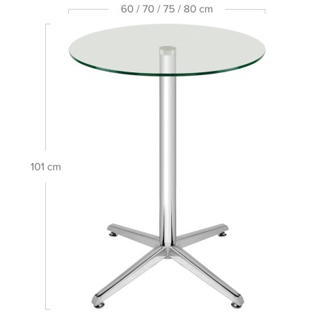 Milan Bar Table Glass