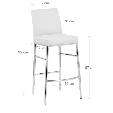 Nova Bar Stool White