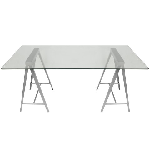 A Frame Glass Table