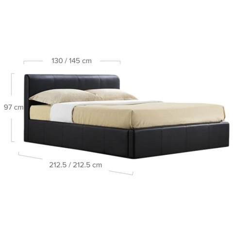 Ottoman Faux Leather Bed