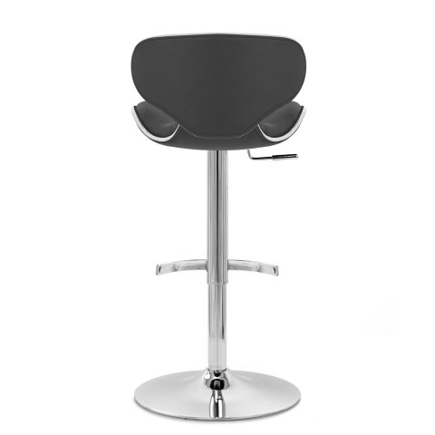 Deluxe Duo Real Leather Stool Black
