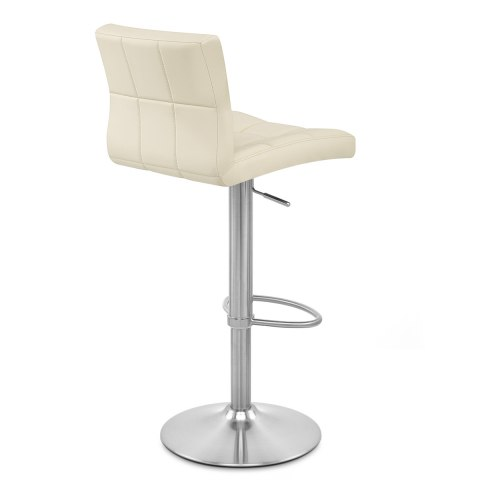 Starz Brushed Steel Stool Cream