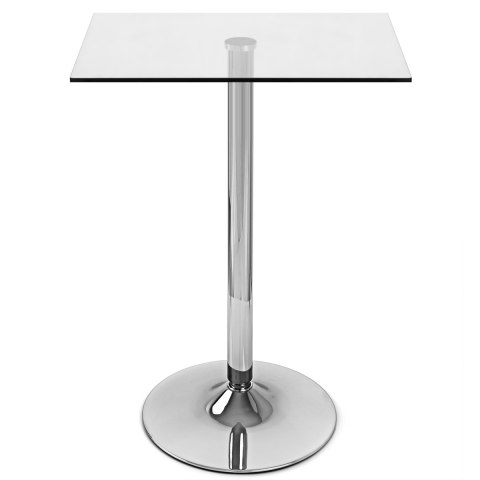 High Quality Vetro Square Glass Bar Table ...