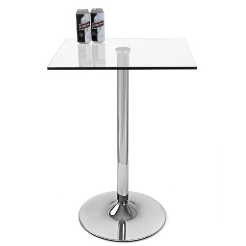Vetro Square Glass Bar Table