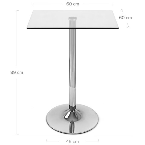 Vetro Square Glass Bar Table Atlantic Shopping