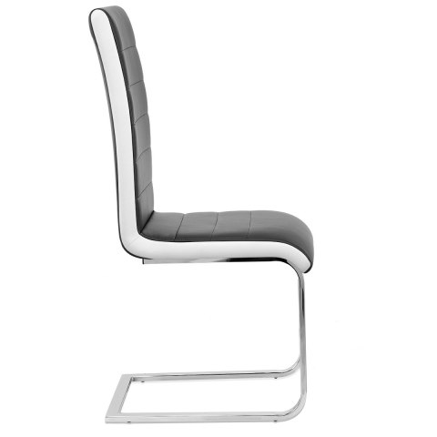Renoir Dining Chair Black & White Sides