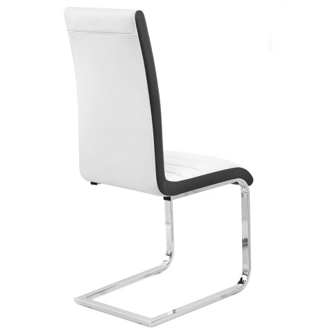 Renoir Dining Chair White & Black Sides