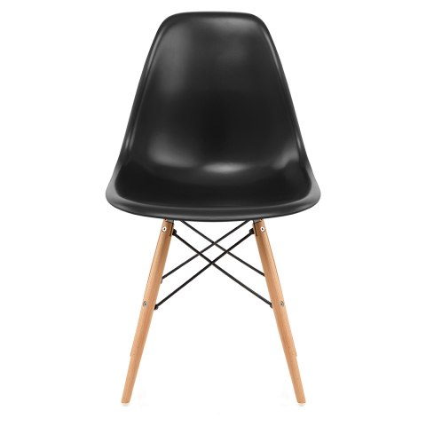 Eames Style Wooden Chair & Satin Black