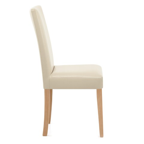 Chicago Oak Dining Chair In Cream Atlantic Shopping