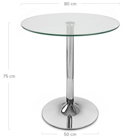 XL 80cm Glacier Round Dining Table