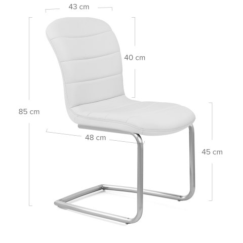 Mica Brushed Dining Chair White