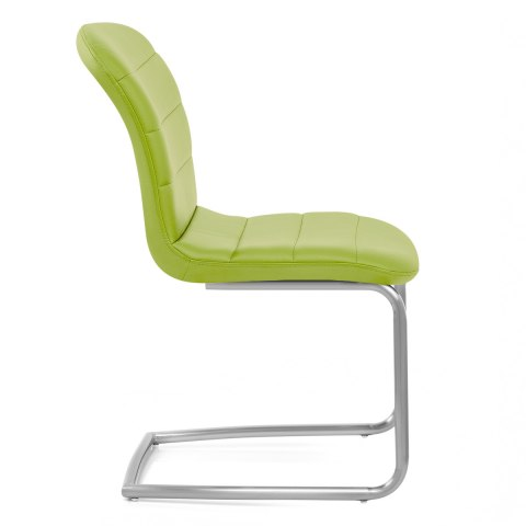 Mica Brushed Dining Chair Green
