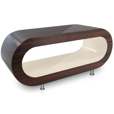 Walnut Orbit Coffee Table Cream Inner