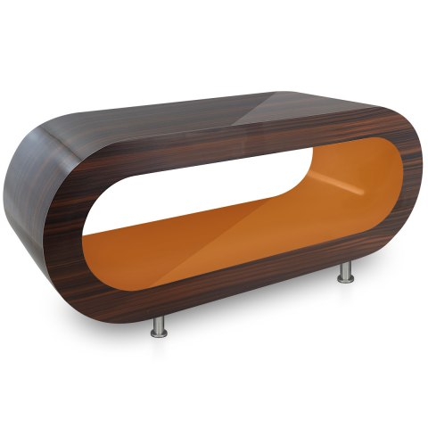 Walnut Orbit Coffee Table Orange Inner