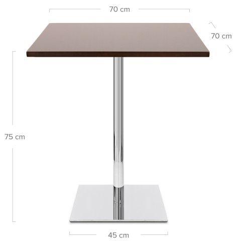 Carrera Square Dining Table Walnut
