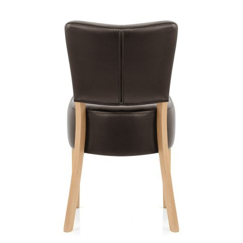 Ramsay Oak Dining Chair Brown Leather