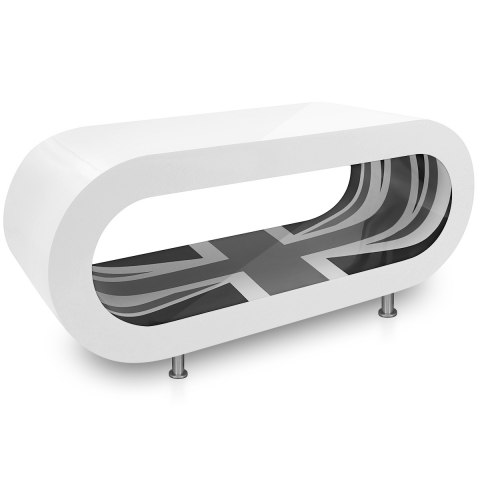 White Orbit Coffee Table B&W Flag Inner