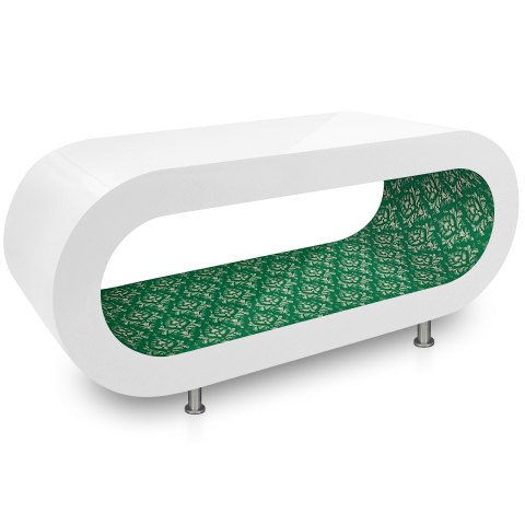 White Orbit Coffee Table Green Pattern Inner